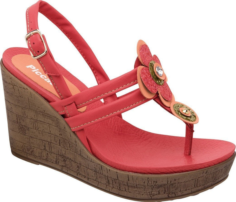 Piccadilly 559003-265 Women Sandal Wedge Red