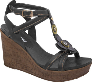 Piccadilly 559004-266 Women Sandal Wedge Black