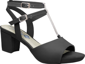 Piccadilly 560002-812 Women Sandal Mid Heel Black