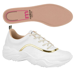 Moleca 5677.100 Women Fashion Sneaker in White