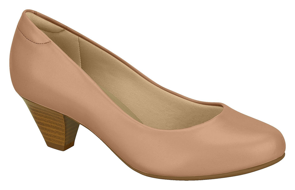 Beira Rio 7005.500-1269 Women Fashion Business Court Shoes Med Heel in Nude