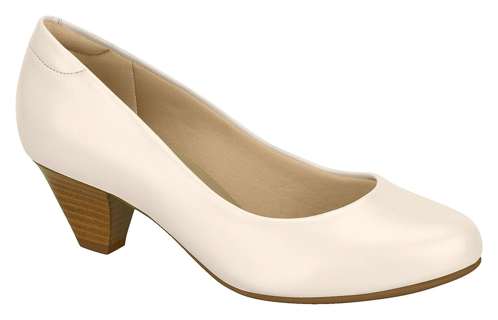 Beira Rio 7005.500-1222 Women Fashion Business Court Shoes Med Heel in Cream