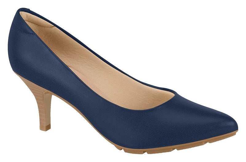 Beira Rio 7013.500-1270 Women Fashion Business Classic Scarpin Shoes in Navy