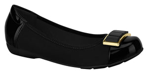 Beira Rio 7016.352-1252 Women Flat Travel Casual Shoe in Stretch Black