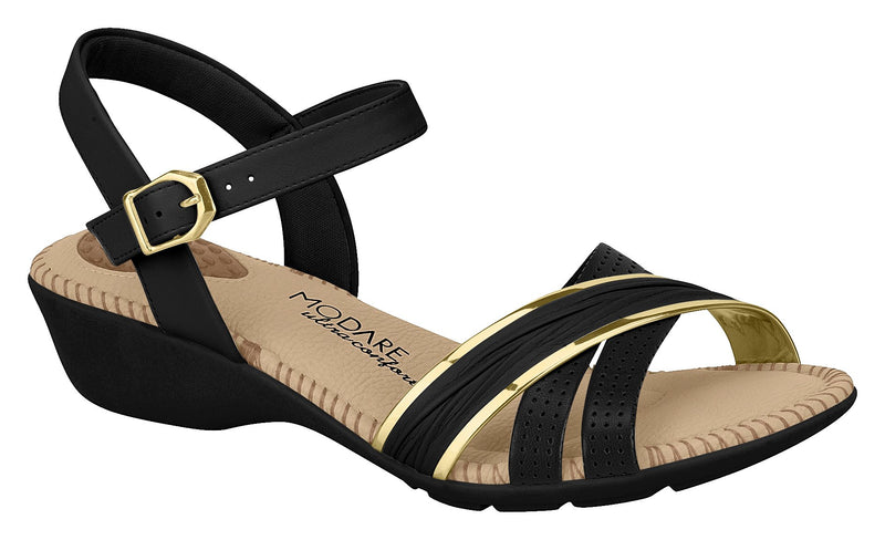 Modare 7017.435 Women Flat Fashion Sandal Travel Casual Shoe in Black