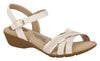 Modare 7017.435 Women Flat Fashion Sandal Travel Casual Shoe in Cream