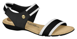 Modare 7025.334 Women Fashion Sandal Travel Casual Shoe in Black White