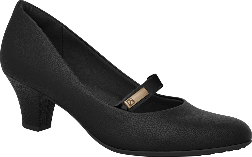 Piccadilly 703016 Women Fashion Business Classic Mary Jane Mid Heel in Black