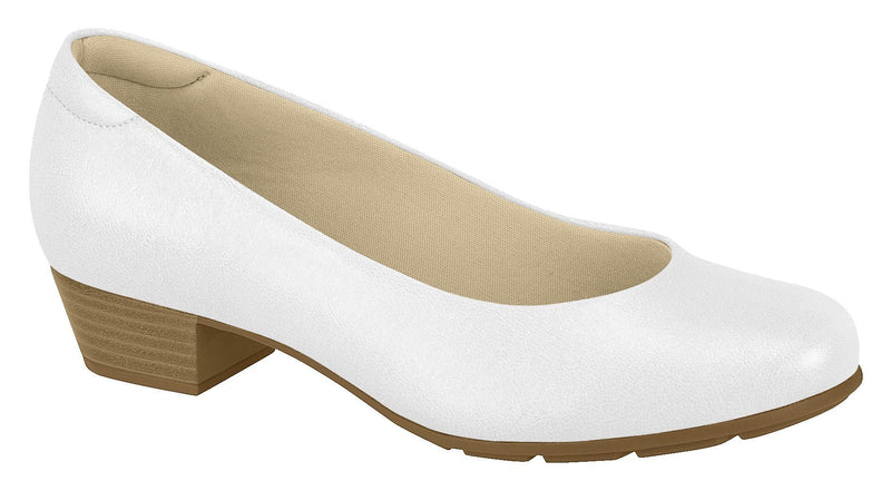 Beira Rio 7032.400-1215 Women Low Heel Round Toe Business Everyday Comfort Shoe in White