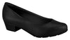 Beira Rio 7032.400-1291 Women Low Heel Round Toe Business Everyday Comfort Shoe in Black