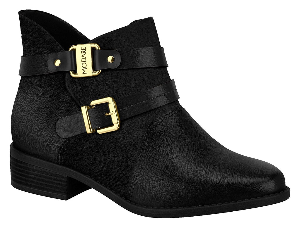 Women Low Heel Comfortable Ankle Boot Black Modare 7057.107