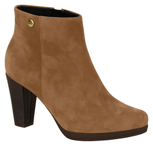 Modare 7064.100 Women Fashion Comfortable Ankle Boot in Camel Nobuck