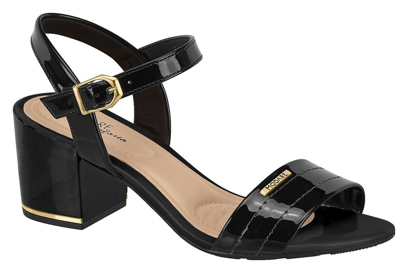 Beira Rio 7109.200-1237 Women Mid Heel Everyday Summer Comfort Sandal in Black