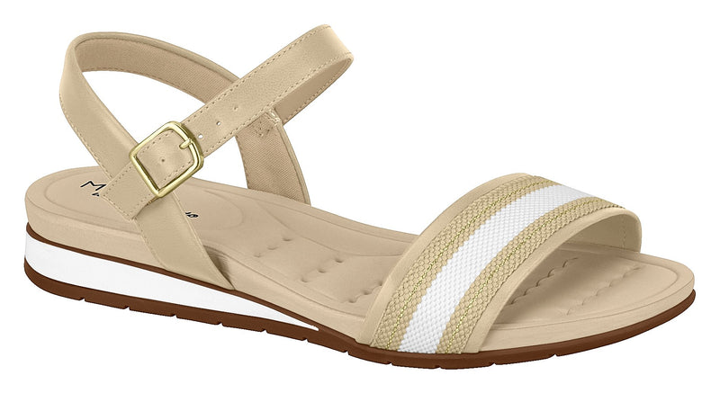 Modare 7113.122 Women Wedge Fashion Sandal Travel Casual Shoe in Beige