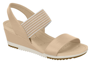 Modare 7123.107 Women Wedge Fashion Sandal Travel Casual Shoe in Multi Beige
