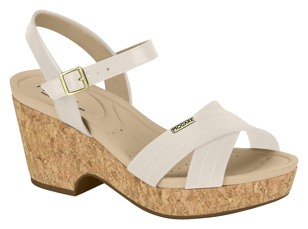 Modare 7137.103 Women Sandal in CReam Cork Super Light