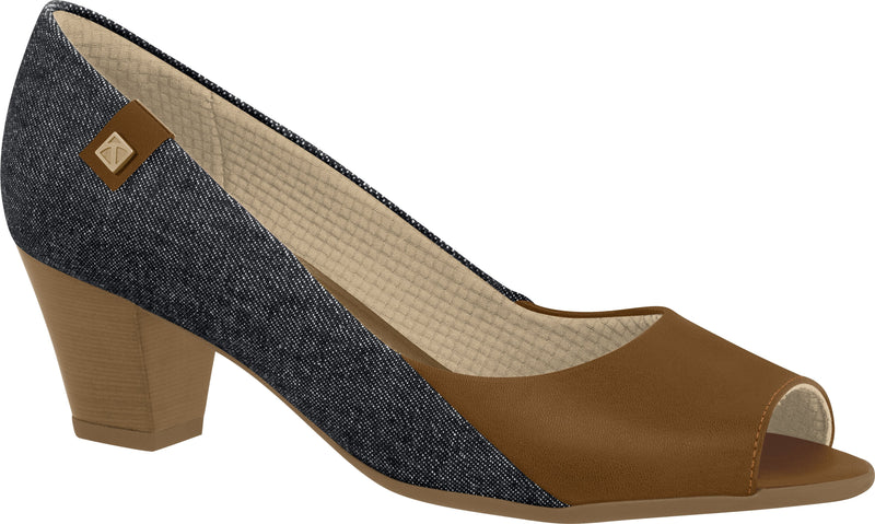 Piccadilly 714080-1024 Women Peep Toe Shoe Denim