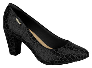 Modare 7305.100 Women Fashion Comfortable Innersole Shoe in Croco Black