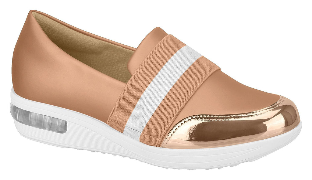 Beira Rio 7320.111-1232 Women Fashion Casual Shoe Loafer Sneaker Comfort in Nude Gold
