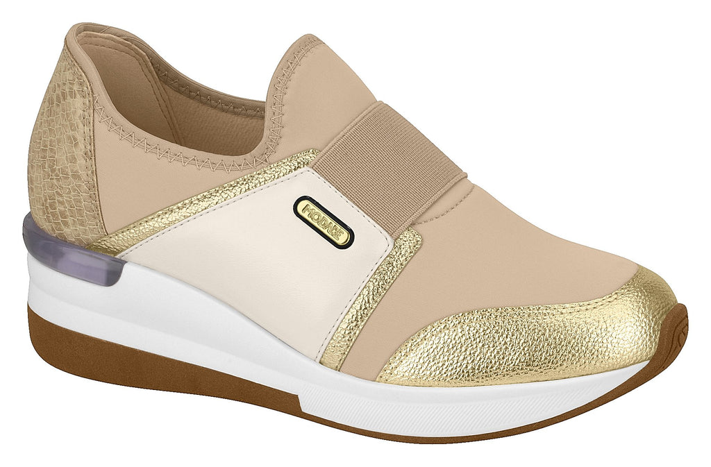 Modare 7336.112 Women Fashion Sneaker in Gold & Cream