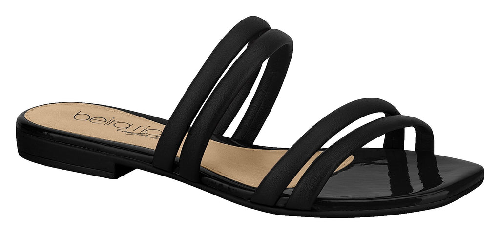 Beira Rio 8328.126-1336 Women Fashion Flat Comfort Flip-Flop in Black