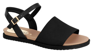 Beira Rio 8337.109-1340 Women Fashion Flat Summer Sandal Comfort in Black