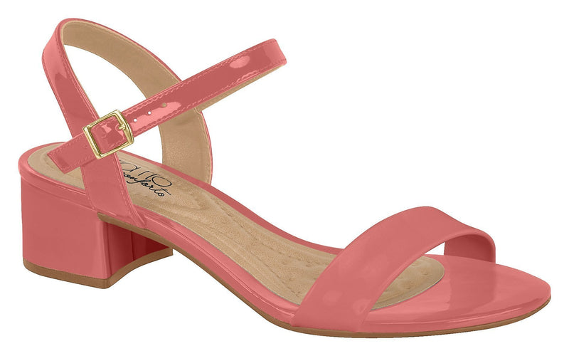 Beira Rio 8345.102-1347 Women Fashion Low Heel Summer Sandal Comfort in Rose