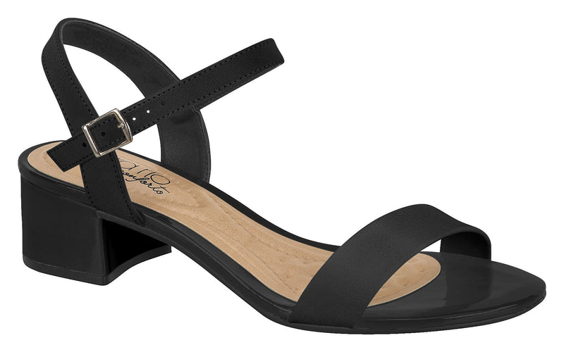 Beira Rio 8345.102-1320 Women Fashion Low Heel Summer Sandal Comfort in Black