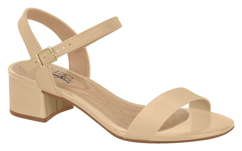 Beira Rio 8345.102-1229 Women Fashion Low Heel Summer Sandal Comfort in Beige