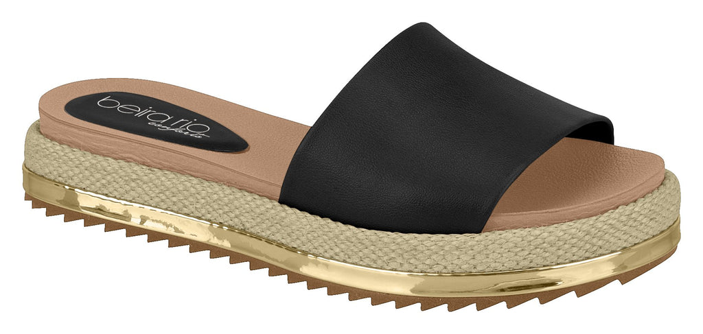 Modare 8354.800 Women Fashion Platform Slipper in Black