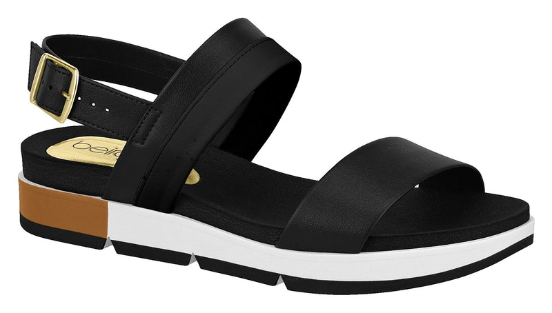 Beira Rio 8387.203 Women Comfortable Sandal in Black