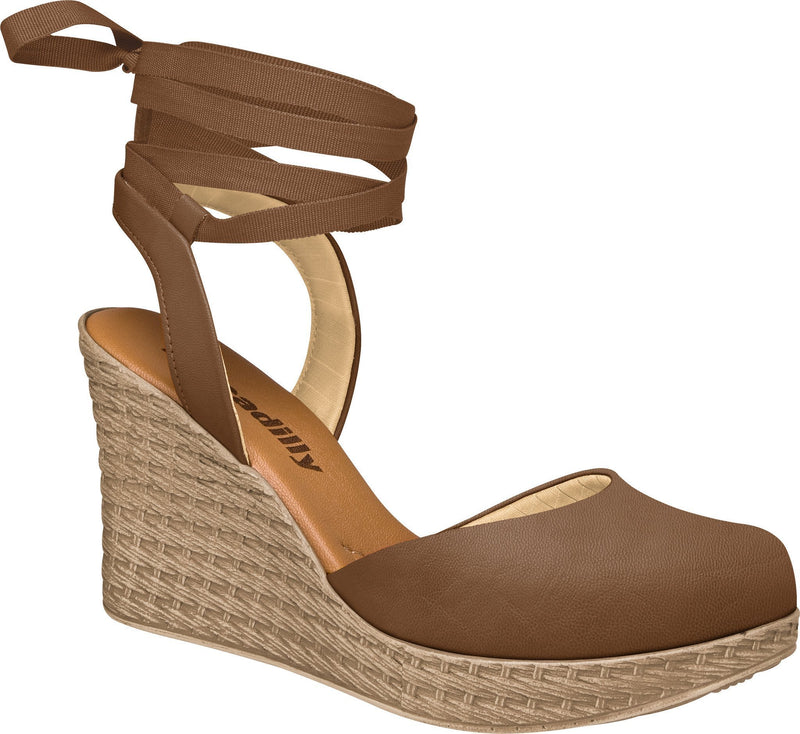Piccadilly 856006-826 Women Fashion Sandal Wedge Brown