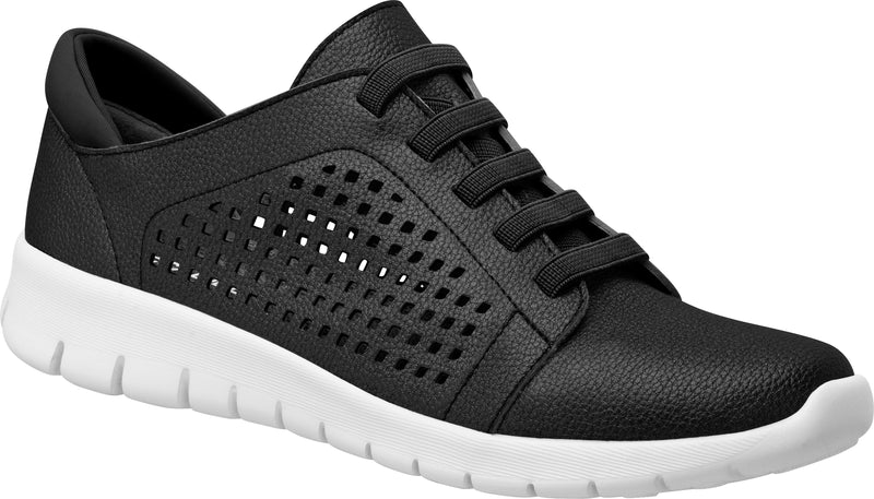 Piccadilly Ref 97012 Women Comfortable Soft Step Sneaker Black