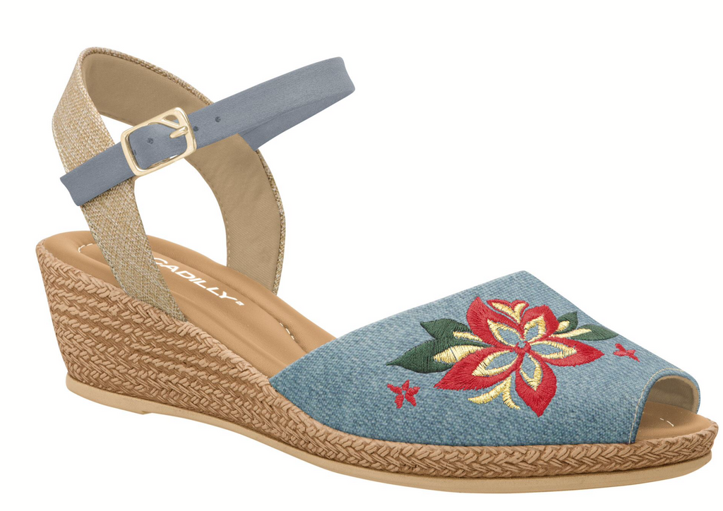 Piccadilly 407016-1056 Women Sandal Wedge Denim