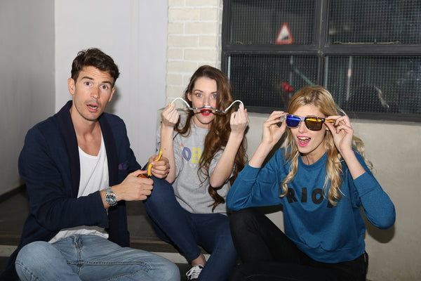 three models showing beandit sunglasses