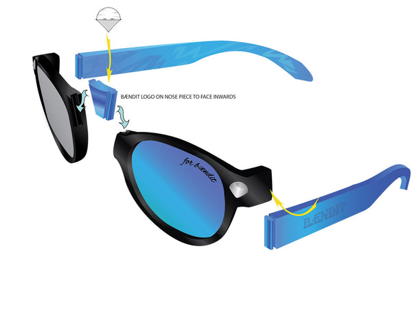how to assemble beandit sunglasses
