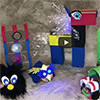 TapeBlock Collection with Black fur character, TapeBlock stack, chook, TapeBlock Pony and TapeBlock Train