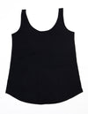 Women's Loose Fit Singlet - Black & White