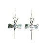 Abalone and Silver Dragonfly Earrings