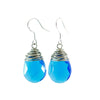 Blue Teardrop Bead Earrings