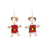 Dancing Santa Earrings