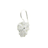 Sterling Silver Lotus Leaf Earrings