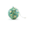 Papier Mache Ball Ornament - Blue