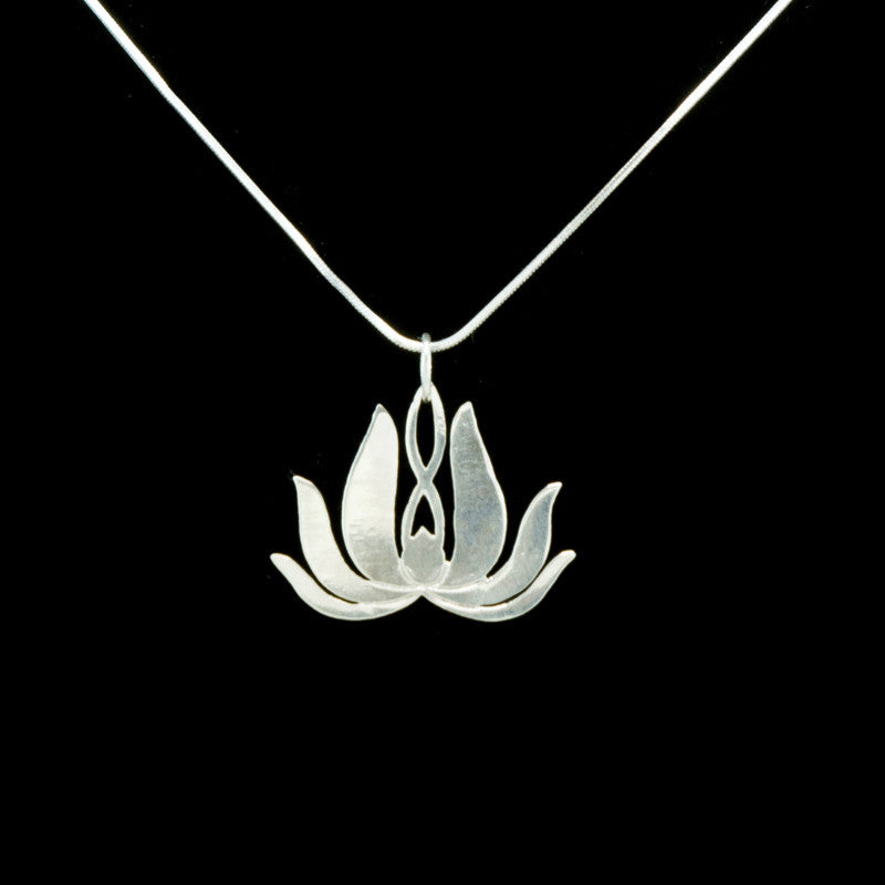 Sterling silver lotus pendant change merchants sterling silver lotus pendant mozeypictures Image collections