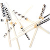 Kenyan Batik Bone Chopsticks - 4 Pair Set