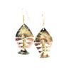 Fishbone Brass Earrings