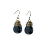Black Teardrop Bead Earrings