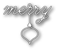 POPPYSTAMPS Merry Ornament