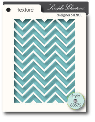 MEMORY BOX Simple Chevron Stencil