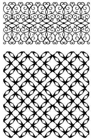 ULTIMATE CRAFTS Stamp Set - Jewelled Lattice